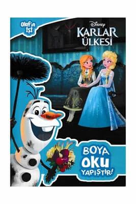 Disney Karlar ülkesi Olafın Işi Boya Oku Kitabina Bak Doğan