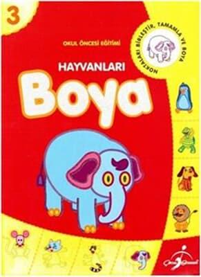 Hayvanları Boya 3 Kitabina Bak çocuk Gezegeni çocuk 9789717781570